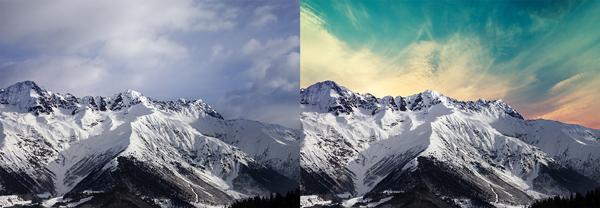 Vor und nach Himmel ersetzen