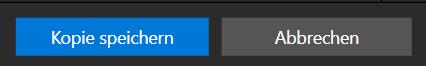 """klicken Sie auf """"Kopie speichern"""", um zum Hauptfenster von Photo Studio zurückzukehren."""