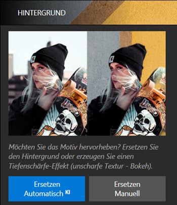 Benutzeroberfläche - Hintergrund ersetzen