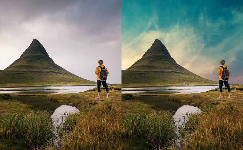Image avant et après changement de ciel