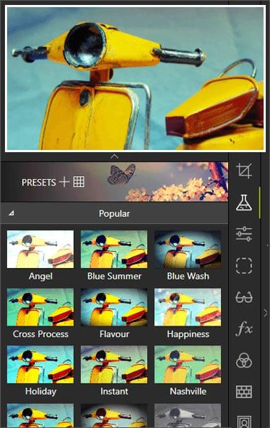 Aggiungi più di 90 filtri alle tue foto!