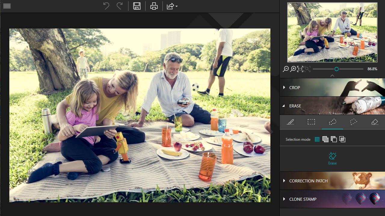 Photo Editor Interface