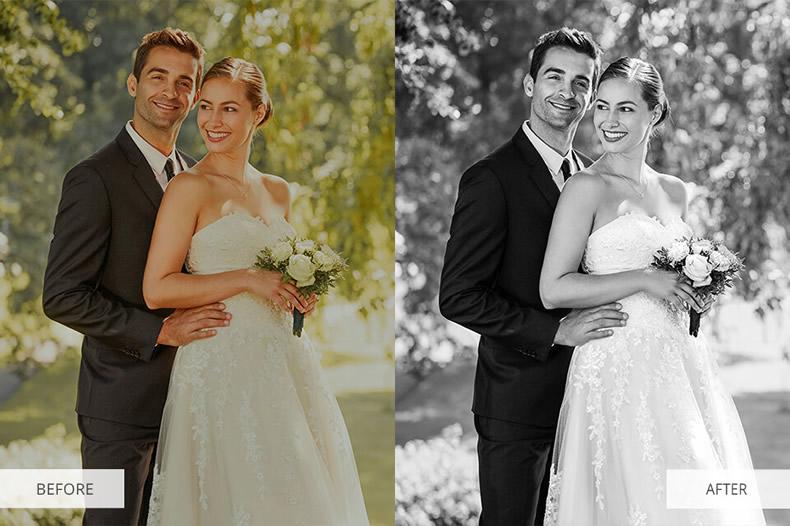 Black and White Wedding Preset