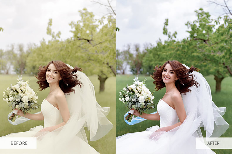 Cloudy Wedding Preset