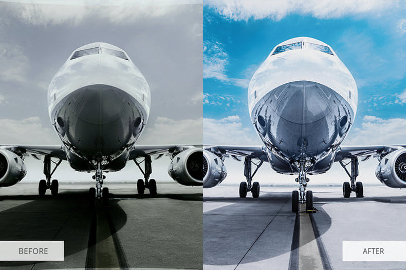 """Before/after applying """"HDR effect"""" preset"""