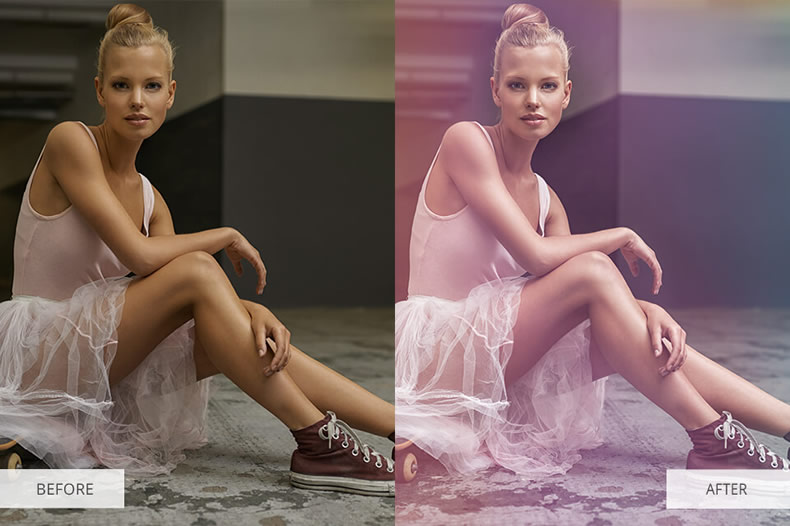Color Palette Photoshop Overlays