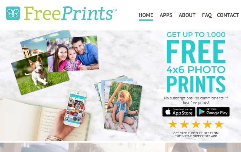 FreePrints Mobile Printing Website