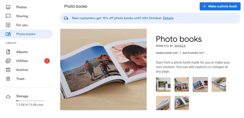 Google Photo Book website