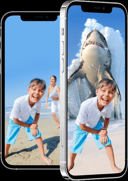 Create impressive photomontages