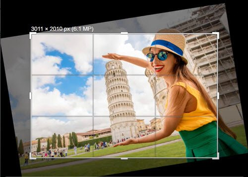 Changing the angle of a photo