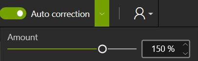 Autocorrection button