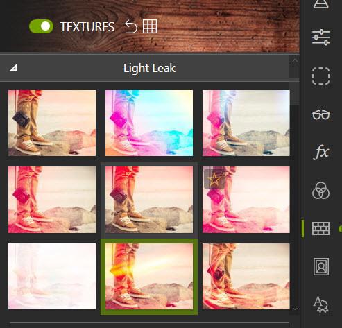 Textures tab
