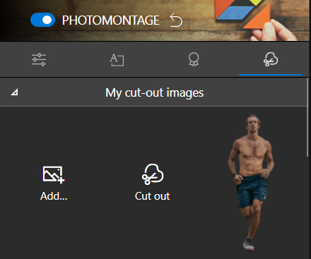 My cut-out images section