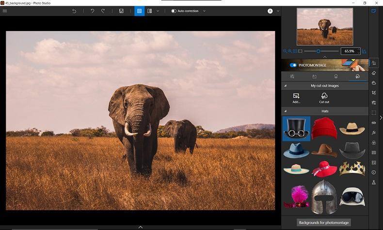 Photomontage tab
