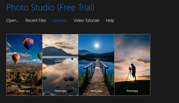 inPixio home screen in free trial mode