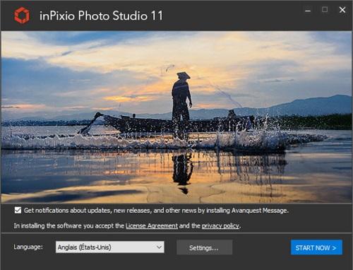 Installation wizard for inPixio's free photo editor