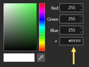 Color code boxes