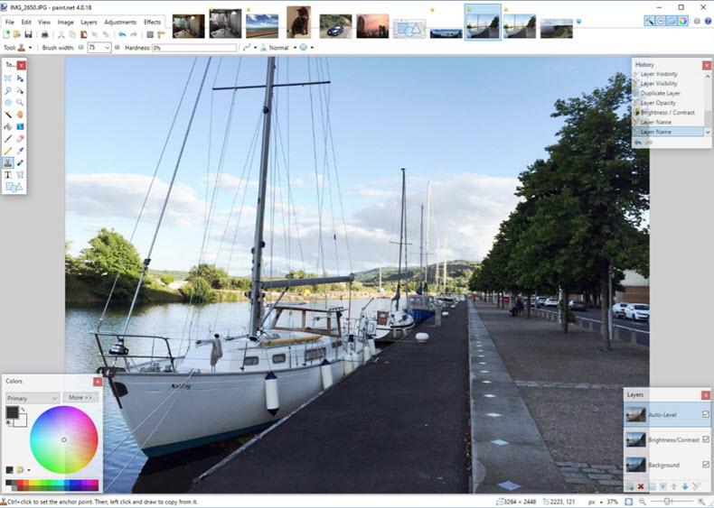 Paint Net interface screenshot