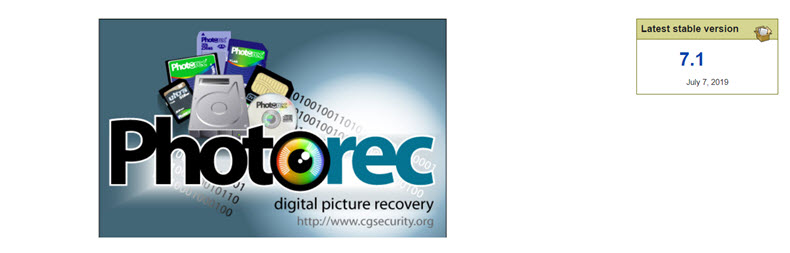 PhotoRec Website