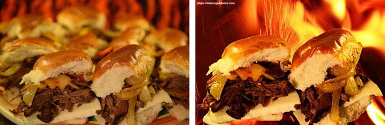Before and after changing the background of a food photo
