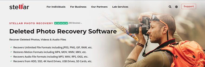 Stellar Photo Recovery Website