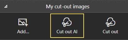 Cut out AI icon